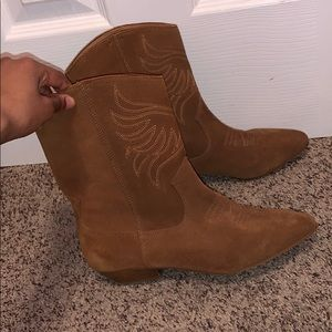 Cow girl low top boots